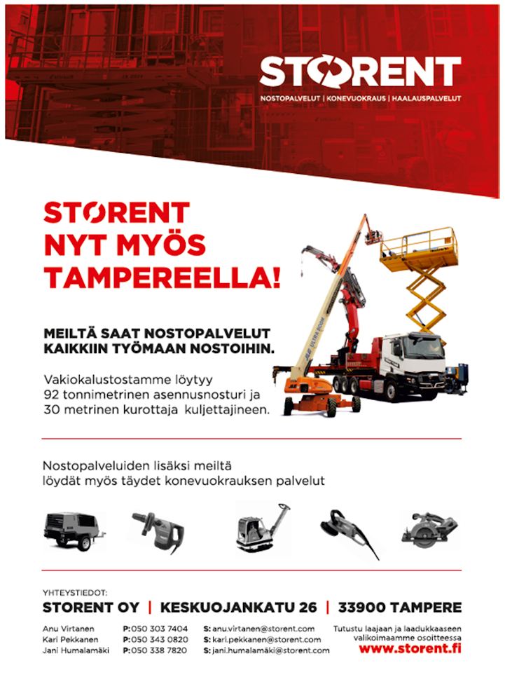Storent nyt myös Tampereella