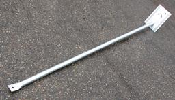 Support brace for fence, strong (Ø42mm), L=1.95m