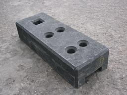 Stängselfot, svart (26.5kg)