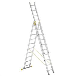 Alumīnijs Soli kāpnes, 6,76 m (3x10 pakāpieni)