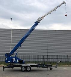 Trailer mounted crane, 1,4t, 30m