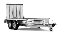 Twin axled machine trailer 2700kg(max load 2065kg)