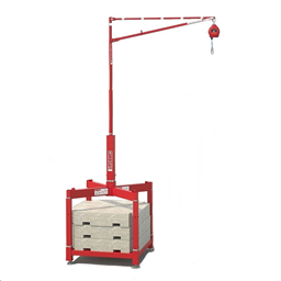 Security system to prevent falls during the loading a flatbed delivery lorry/trailer