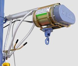 Vinča ar trosi GEDA STAR 200 Standart, 200kg, 50m, 230V; komplektā ar konsoli