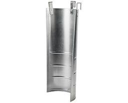 Būvgružu novadcaurules metāla ieliktnis