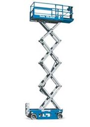 Šķērveida pacēlājs ar platformu ( pašgājējs, ar akumulatoru, 2 WD), 10m