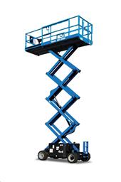 Rough-terrain scissor lift (diesel, 4 WD), 12m