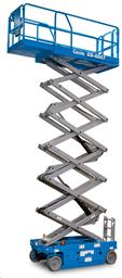 Šķērveida pacēlājs ar platformu ( pašgājējs,  ar akumulatoru, 2 WD), 14m