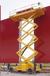 Šķērveida pacēlājs ar platformu ( pašgājējs, dīzelis, 4 WD), 15m