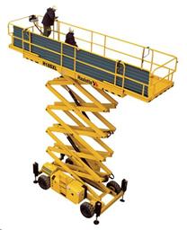 Šķērveida pacēlājs ar platformu ( pašgājējs, dīzelis, 4 WD), 18m