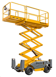 Šķērveida pacēlājs ar platformu ( pašgājējs, dīzelis, 4 WD), 10m