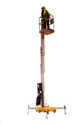 Teleskopiskais masta pacēlājs (pašgājējs, 230V), h=8,1m