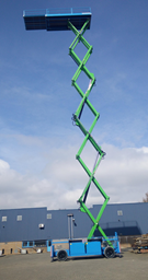 Electric scissor lift (battery, 4 WD), 33m