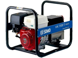 Kannettava generaattori 230V/400V, 6kW, bensiini