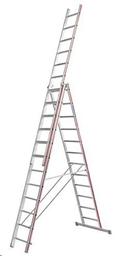 Alumīnija trepes, 10.35m (3x14)