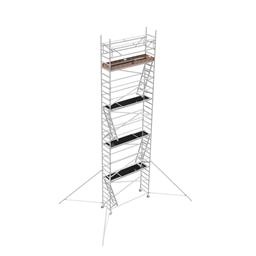 Byggställning aluminium 0.75m x 2.5m, H=8.0m (plattform)
