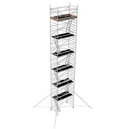 Byggställning aluminium bred 1.30m x 2.5m, H=12.0m (plattform)