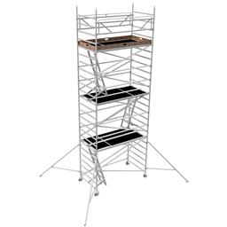 Byggställning aluminium bred 1.30m x 2.5m, H=6.0m (plattform)