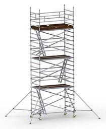 Byggställning aluminium bred 1.30m x 2.5m, H=7.0m (plattform)