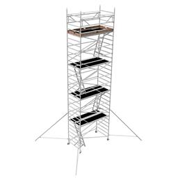 Instant Uprigh Alu-tower 1.30m x 2.5m, H=8.0m (platform)