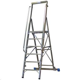 Alumiiniset 7-portaiset tikkaat, H = 2,65m