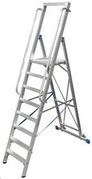 Alumiiniset 8-portaiset tikkaat, H = 2,90m