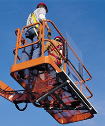 Glass racks, for mounting on JLG lifts