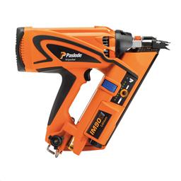 Spikpistol gas 50-90mm, 1 par skyddsglasögon, 1 st laddare med separat kabel, 1 st batteri.