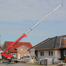 Trailer mounted crane, 1,0t, 25m