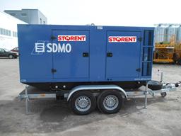Puspiekabes dīzeļģenerators, 160kW