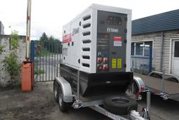 Puspiekabes dīzeļģenerators, 100kW, 24h