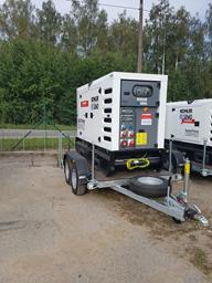 Generator, diesel - semitrailer, 48kW, 24h