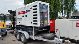 Generator, diesel - semitrailer, 64kW, 24h