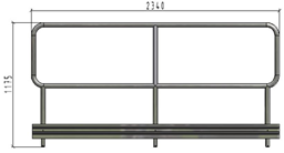 TLC platfomas dubulto margu panelis ar bortu, L=2.34m, H=1.1m