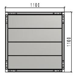 TLC platformas klājs 1.10 x 1.10m