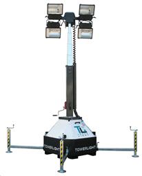 Apgaismes masta prožektors (Metāl-halīda lampas) 10m, 4x400W 220V