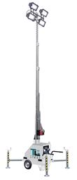 Apgaismes masta prožektors,  4 X 400W halogen, 7m, 230V