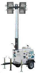 Apgaismes masta prožektors, dīzeļa, 4 X 1000W, 8m