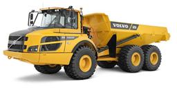 Hjuldumper, Vikt 22.5t, Lastvikt 24000kg