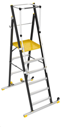 Ladders -working platform, with fall protection, h-2,0m,  (total h -3,01m)