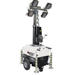 Belysningsmast, 4 X 160W LED, 7m