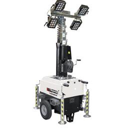 Belysningsmast  4 X 150W LED, 7m