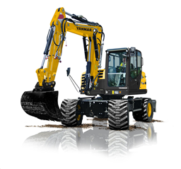 Wheeled excavators, <10t