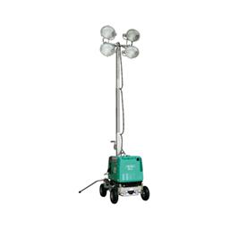 Apgaismes masta prožektors ar ģeneratoru,  4 X 400W, 4m