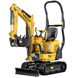 Mini-excavators, 1035kg (quick coupler buckets)